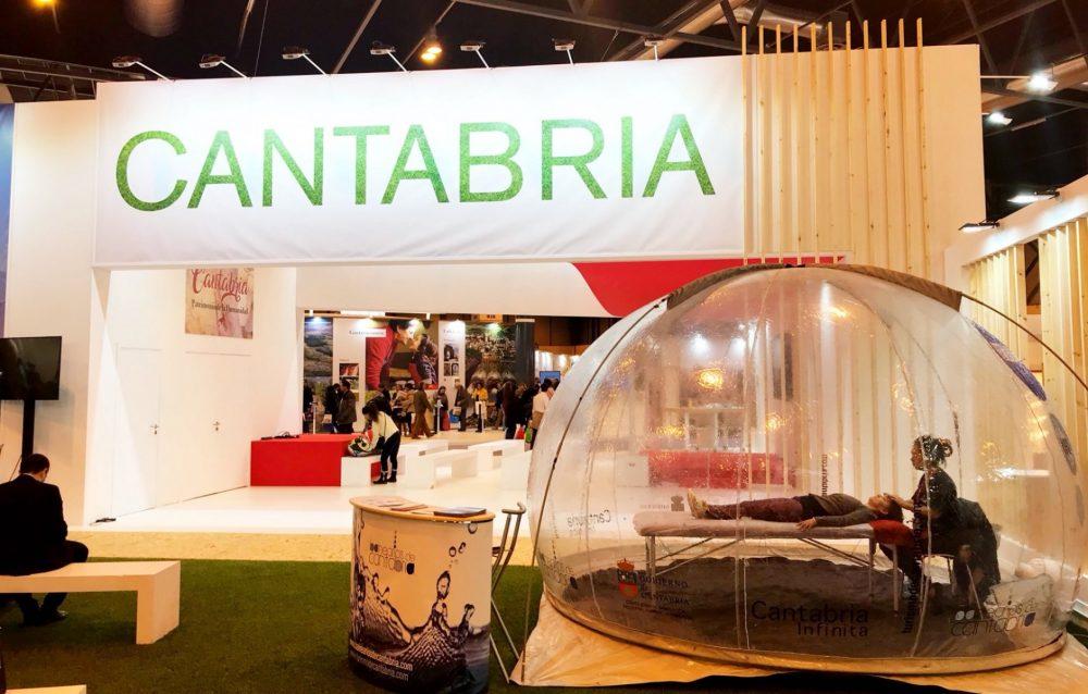a Asociación de Balnearios de Cantabria presente dentro del stand de Cantabria en Fitur 2019