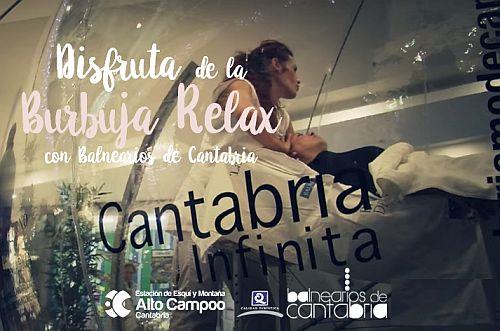 La burbuja relax de Balnearios de Cantabria en El Chivo en Alto Campoo