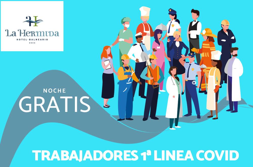 Estancia gratuita para trabajadores en 1ª línea COVID